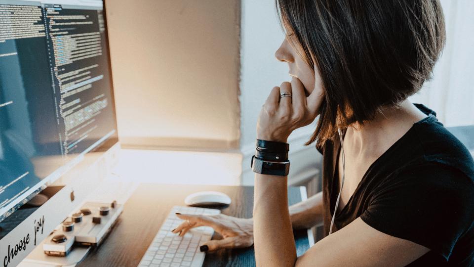 a woman coder