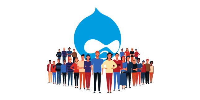 image illustrating Drupal comm