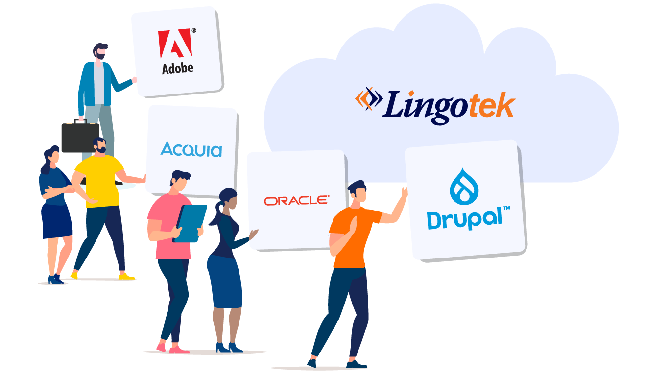 illustration showcasing integrations with partners